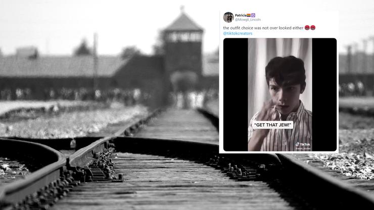 Tiktokerzy udają... ofiary Holokaustu w niebie