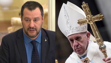 Były wicepremier Włoch zakpił z incydentu z papieżem. Wrzucił do internetu wideo