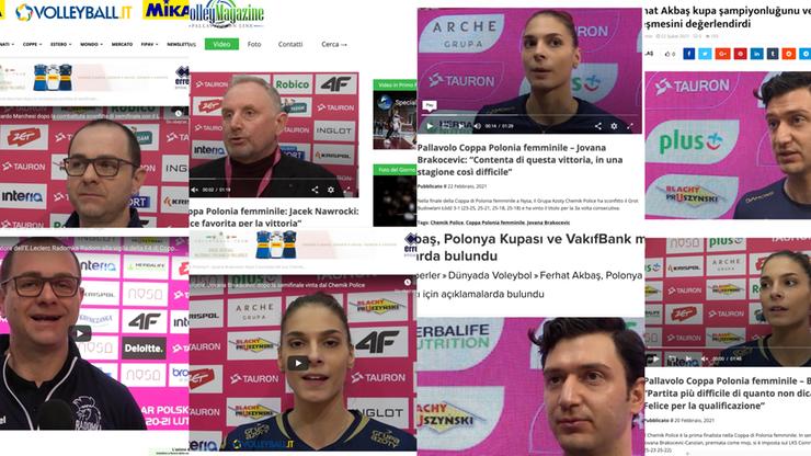 TAURON Puchar Polski Kobiet na ustach włoskich i tureckich mediów!