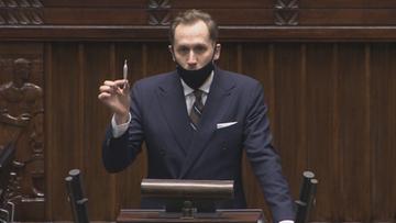"""Poseł Konfederacji z """"jointem"""" w Sejmie. Apelował o legalizację"""